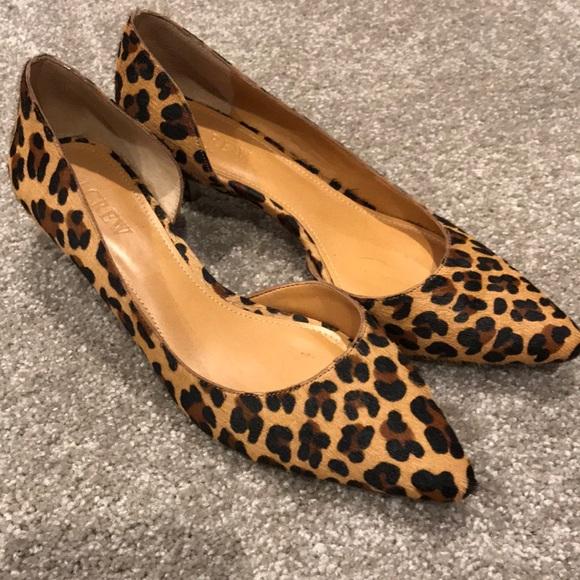 J Crew Leopard Print Kitten Heel